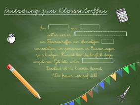 einladung klassentreffen – klassentreffen organisieren, Einladung